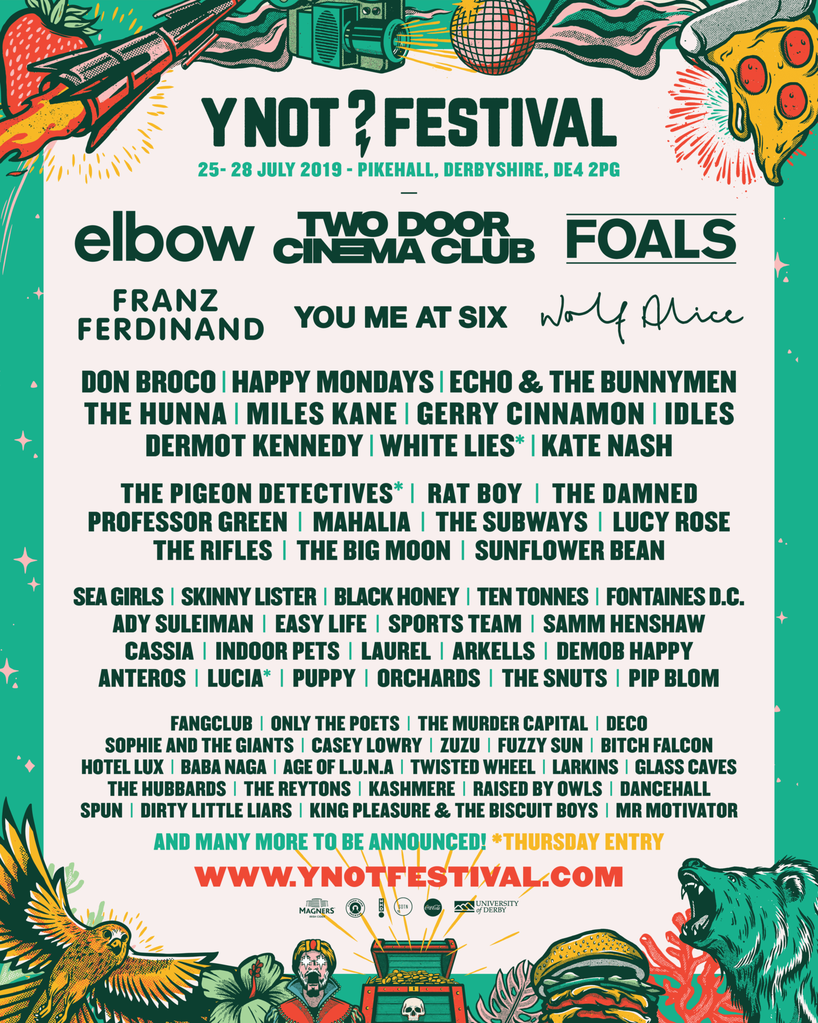 Y Not Festival poster